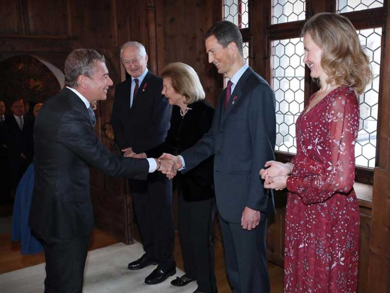 Hereditary Prince of Liechtenstein receives Ambassador Dario Item