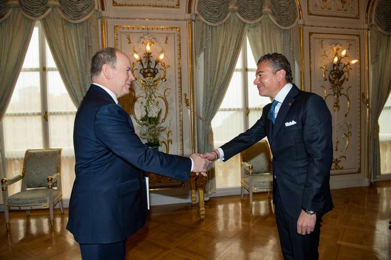 H.E. Dr. Dario Item meets Prince Albert II of Monaco